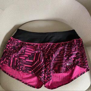 Nike Dri Fit Pink & Black Runner Shorts Sz Small